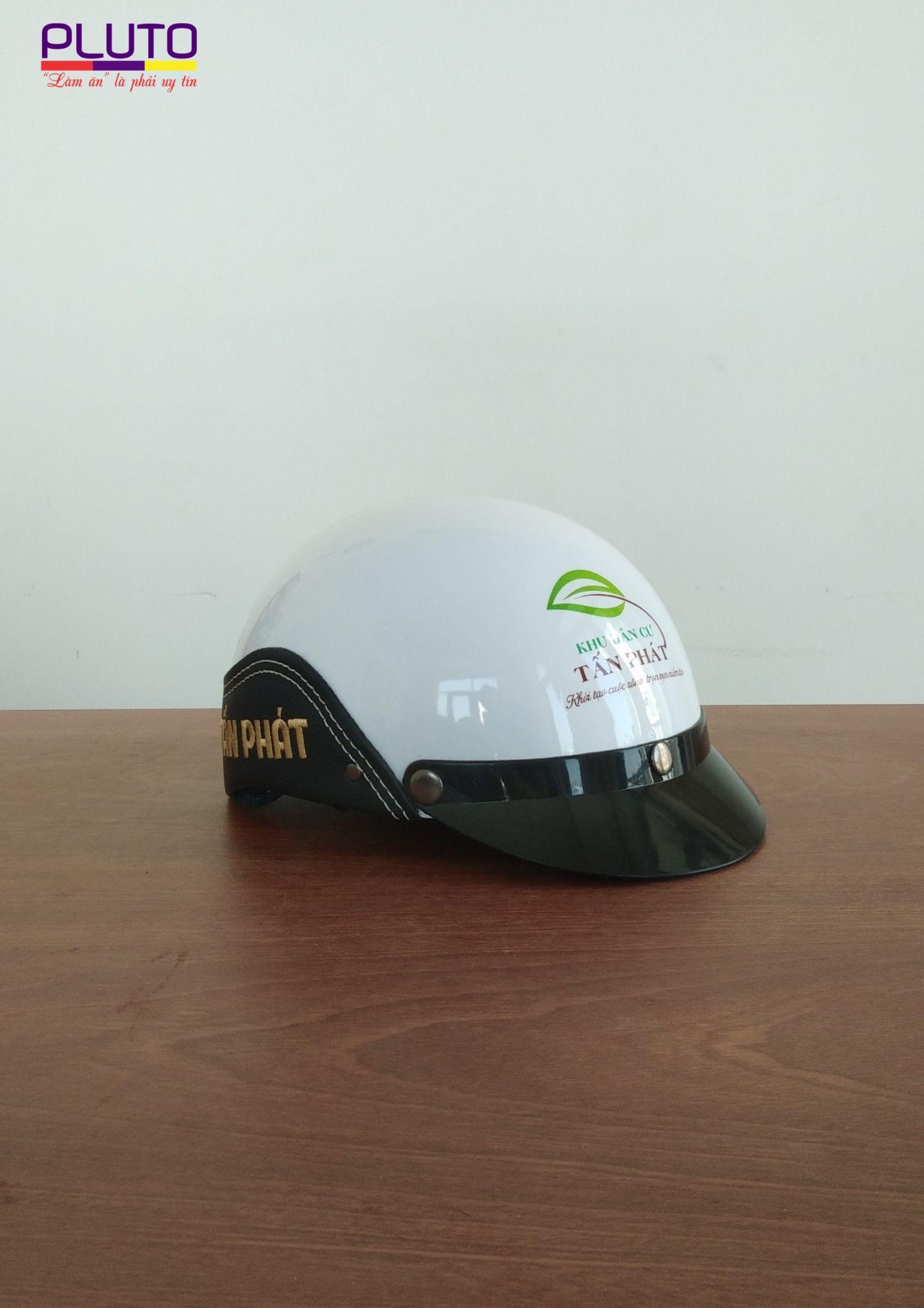 xưởng sản xuất nón bảo hiểm quảng cáo