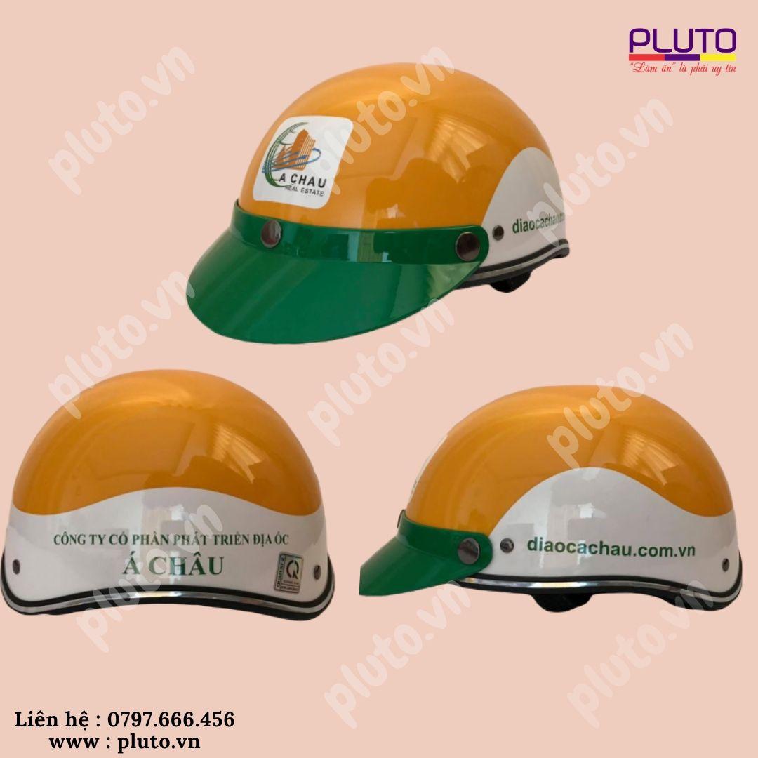 Làm nón bảo hiểm quảng cáo theo yêu cầu