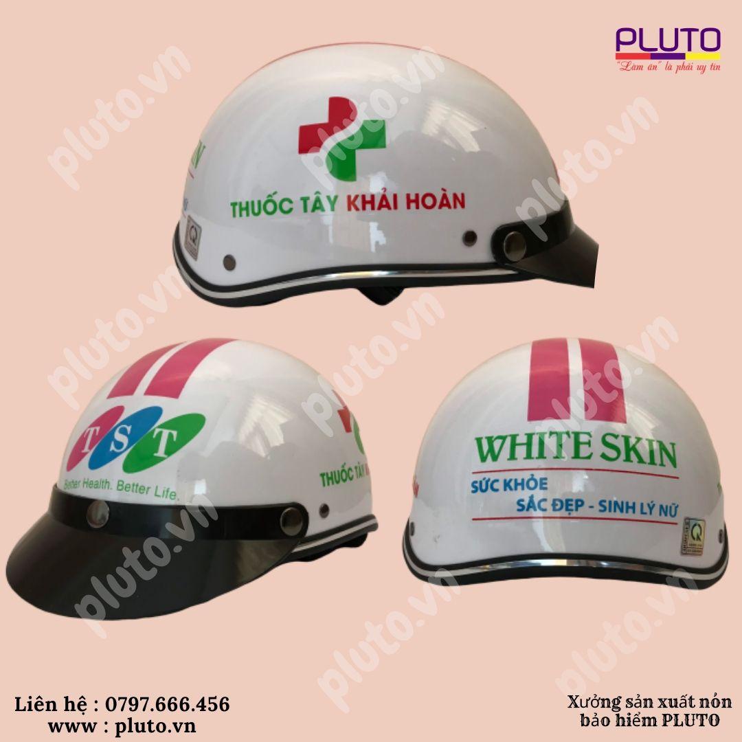 Quảng cáo nhờ mũ bảo hiểm in logo