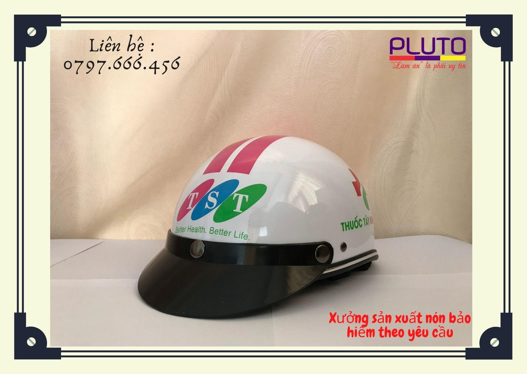 quảng cáo nón bảo hiểm in logo