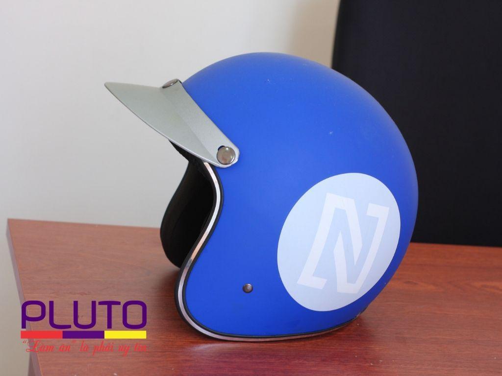 mũ bảo hiểm quảng cáo theo yêu cầu