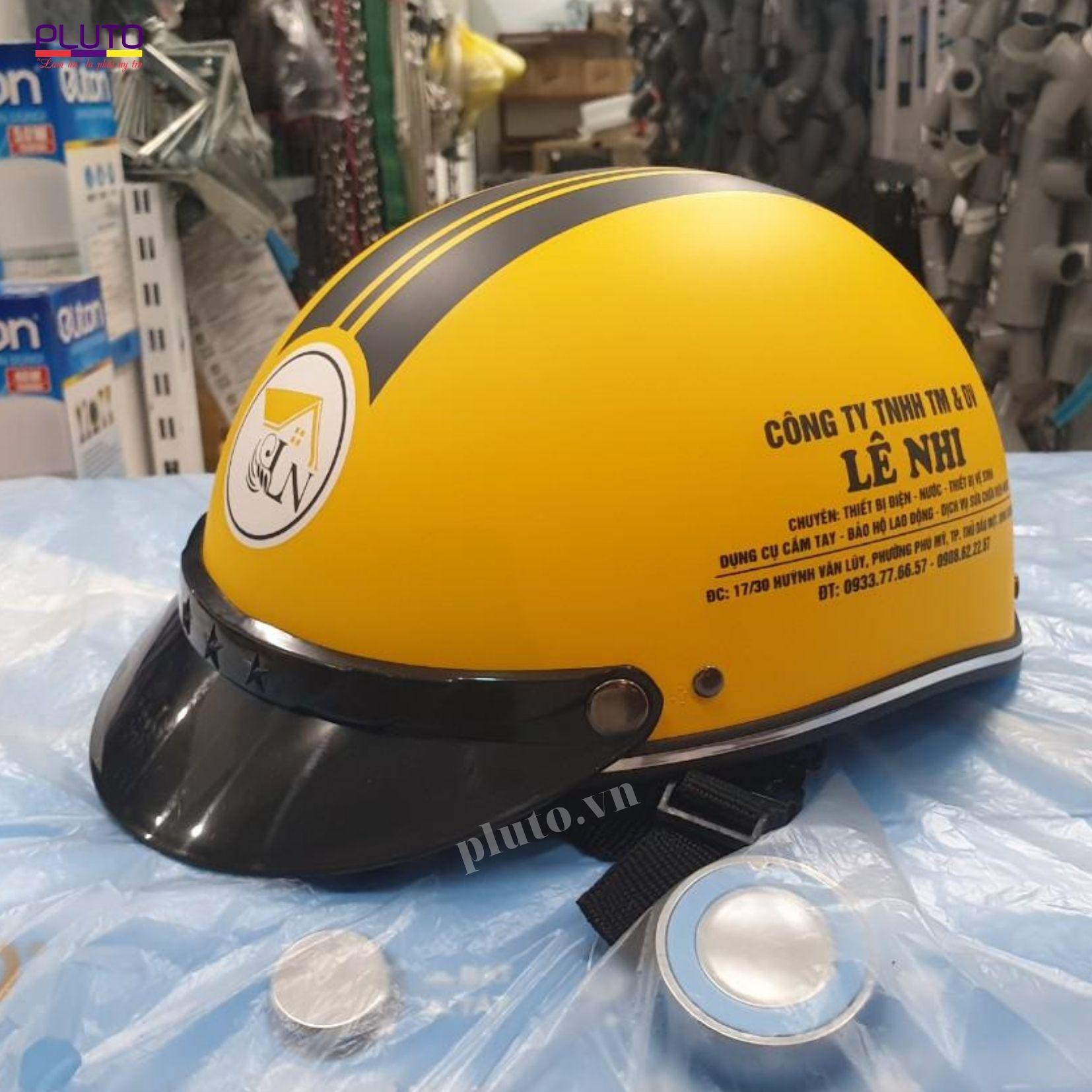Mũ bảo hiểm in logo quà tặng uy tín