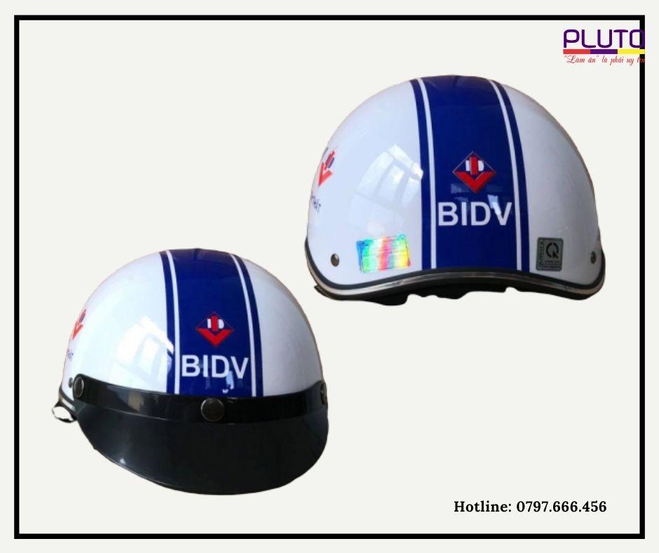 mũ bảo hiểm in logo quảng cáo