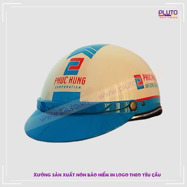 Mũ bảo hiểm in logo quảng cáo uy tín