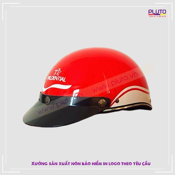 Mũ bảo hiểm in logo quảng cáo theo yêu cầu